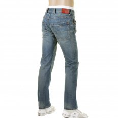 Special Edition Stonewash Slim Fit Low Waist Straight Leg Denim Jeans