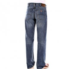 Stonewash Blue Cast Relaxed Fit Straight Leg Regular Waist Jeans