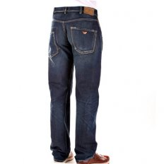 Stonewash Relaxed Straight Leg Regular Waist Denim Jeans