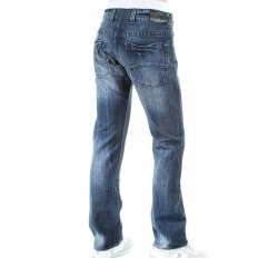 Stonewash Slim Fit Low Waist Button Fly Worn Finish Denim Jeans