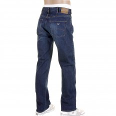 Stonewashed Regular Fit Regular Waist Stretch Denim Jeans