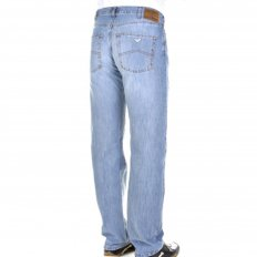 Super bleached lightweight denim jeans