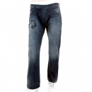 ARMANI JEANS Washed Dark Indigo Regular Fit Low Waist Denim Jeans