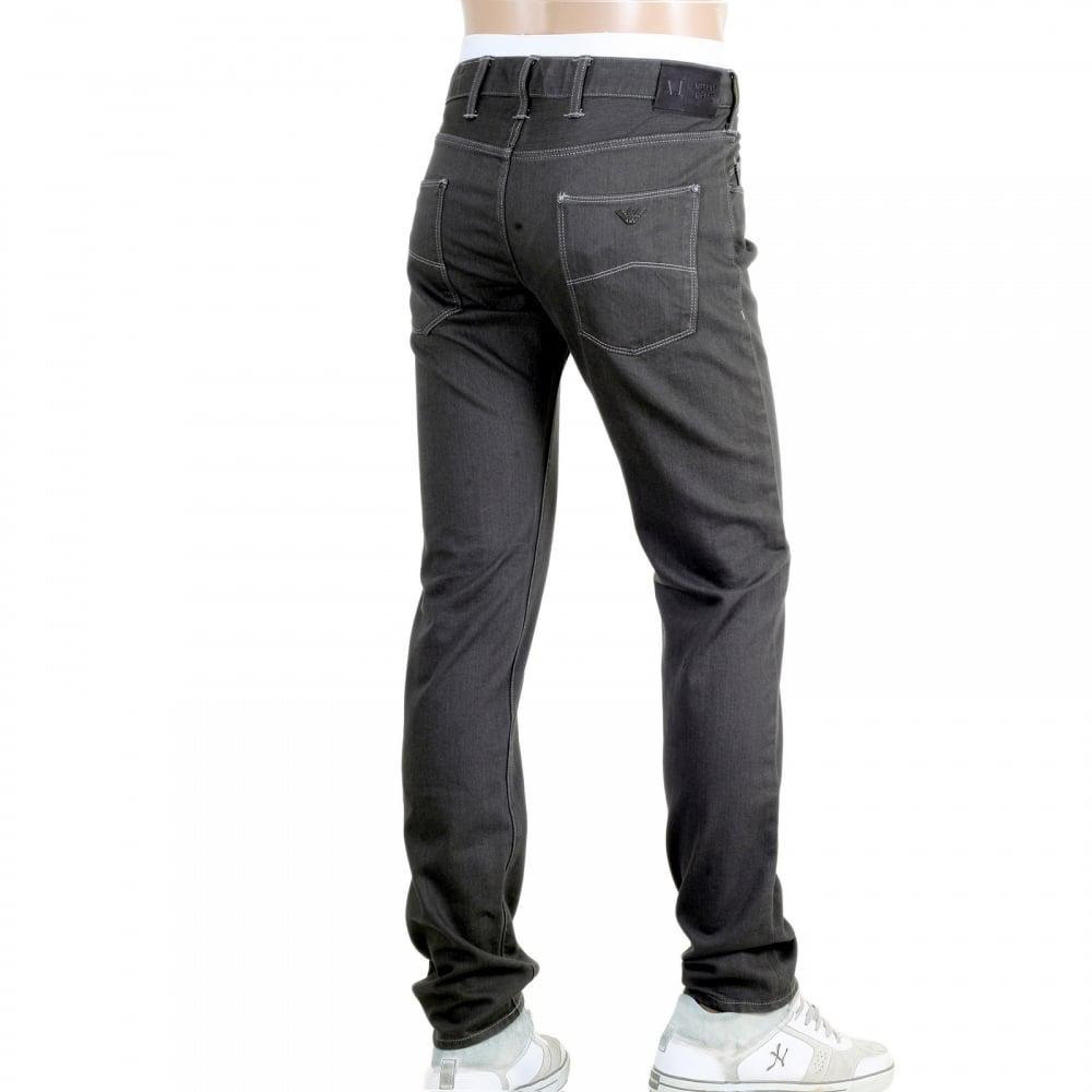 low rise slim fit grey jeans for men by armani jeans uk. Black Bedroom Furniture Sets. Home Design Ideas