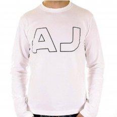 White Crew Neck Slim Fit Long Sleeve T Shirt