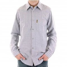 Woven Blue Grey Regular Fit Long Sleeve Shirt