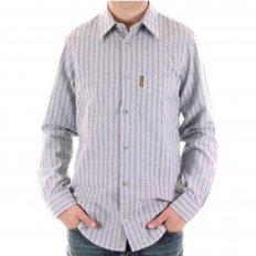 Woven Blue Grey Regular Fit Long Sleeve Shirt