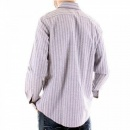 ARMANI JEANS Woven Blue Grey Regular Fit Long Sleeve Shirt