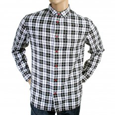 Woven Cotton Black-White-Smoke Grey Check Slim Fit Shirt