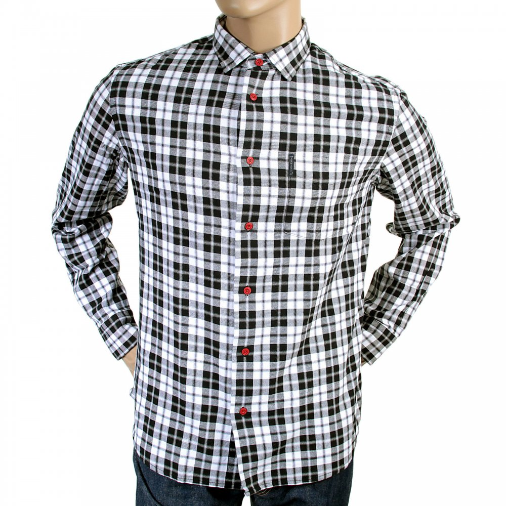 Comfortable Black And White Check Shirt By Armani Jeans