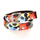 Football Printed Canvas Leather Belt