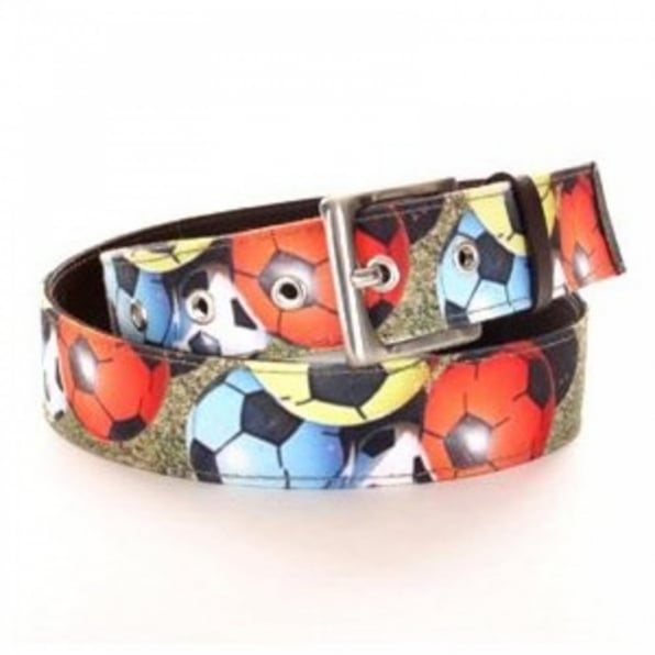 BANGERS AND MASH Football Printed Canvas Leather Belt