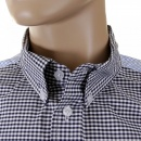 RMC MKWS Black and Blue Button Down Collar Long Sleeve Regular Fit Shirt