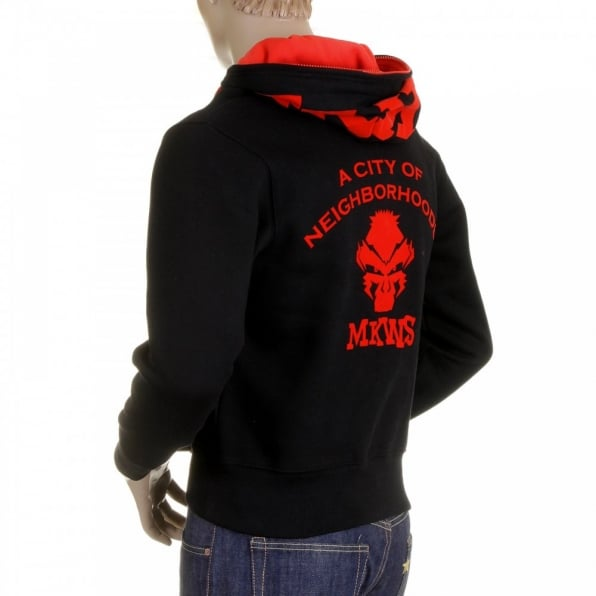RMC MKWS Black Empire Hooded Zipped Regular Fit Sweatshirt