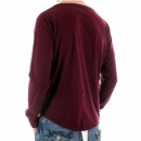 BLUE BLOOD Red Long Sleeve T Shirt