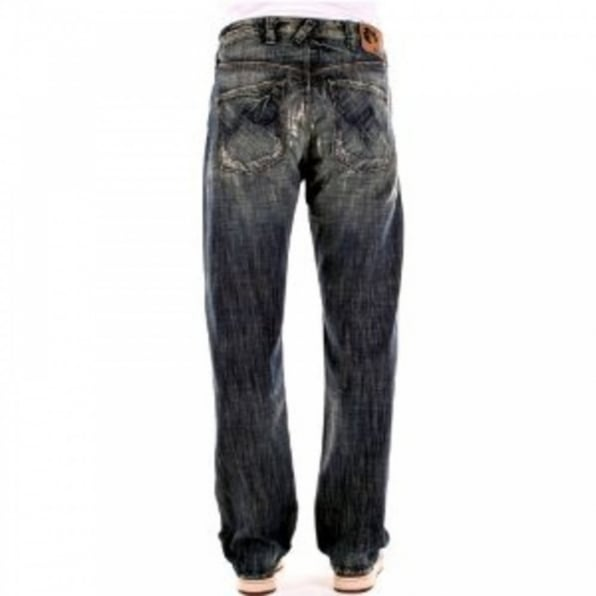 BLUE BLOOD Regular Fit Deep Cut Denim Jeans