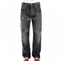 Regular Fit Deep Cut Denim Jeans