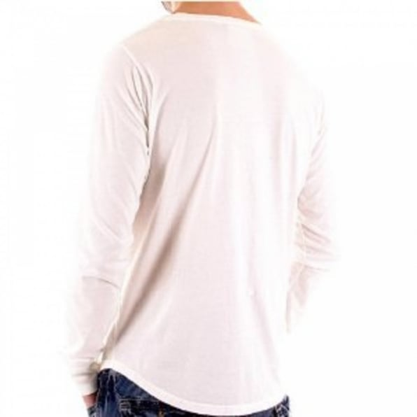 BLUE BLOOD White Long Sleeve T Shirt