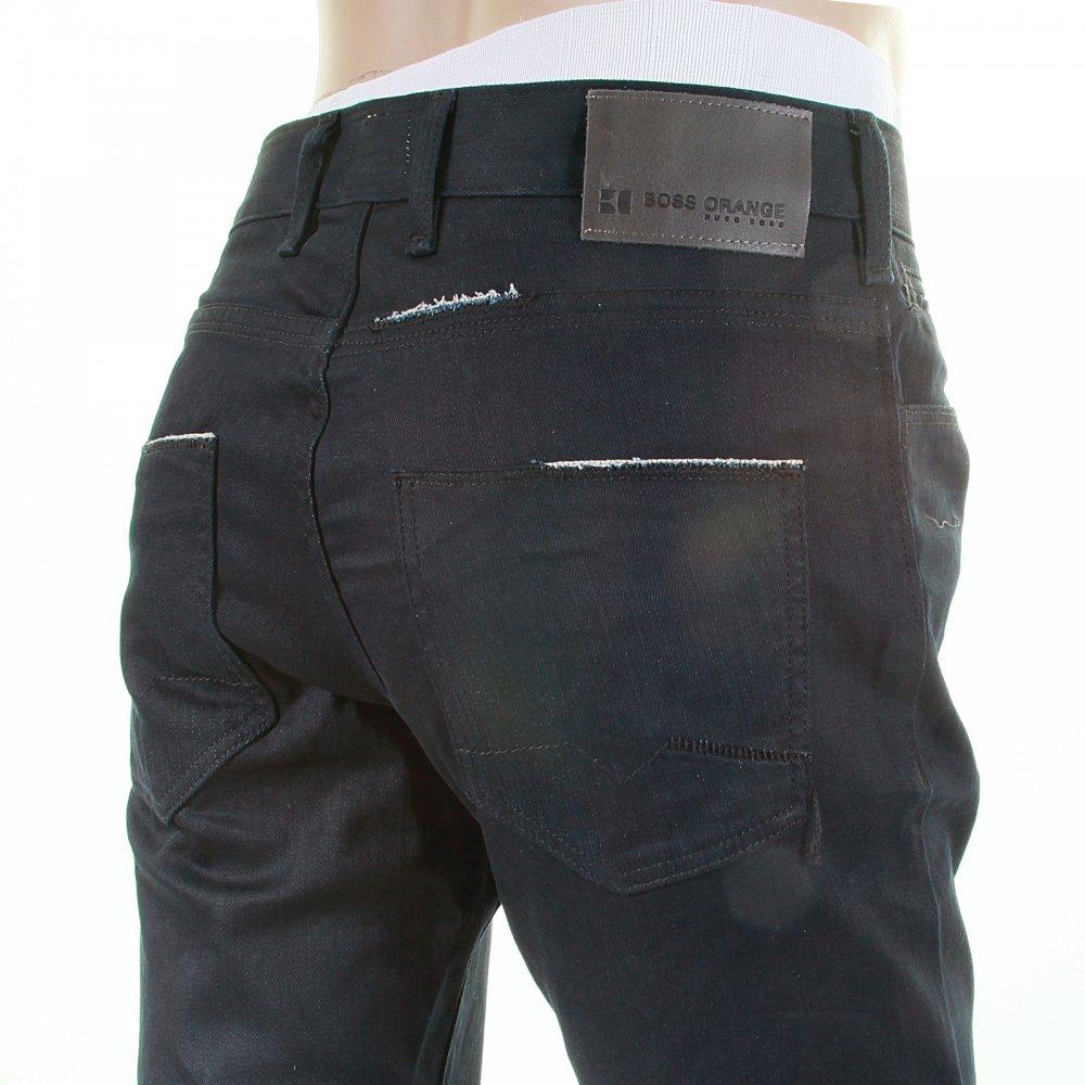 shop hugo boss mens black stretch boss orange jeans at. Black Bedroom Furniture Sets. Home Design Ideas