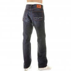 Dark Stonewash Regular Comfort Fit Denim Jeans