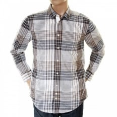 Mens ClffE Sand Check Long Sleeve Shirt