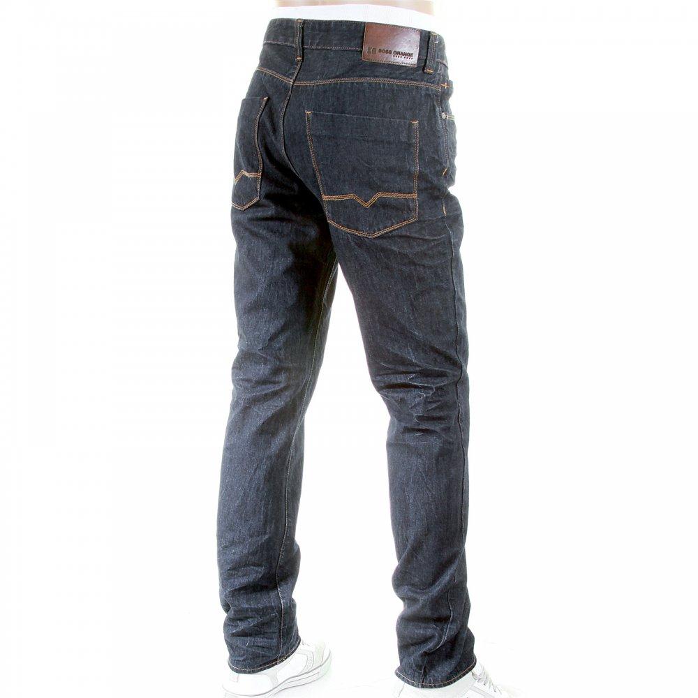 hugo boss dark wash black slim fit jeans by boss orange uk. Black Bedroom Furniture Sets. Home Design Ideas