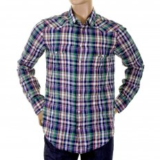 Mens Soft Collar Regular Fit Multi Check Long Sleeve Shirt