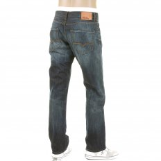 Ocean Washed Indigo Vintage Finish Classic Regular Fit Denim Jean