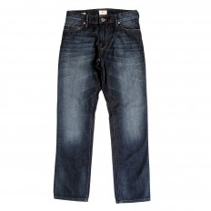 Washed Dark Indigo Regular Fit, Lower Rise Denim Jeans