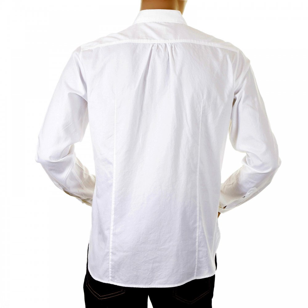 buy white long sleeve mens cotton shirts by boss orange
