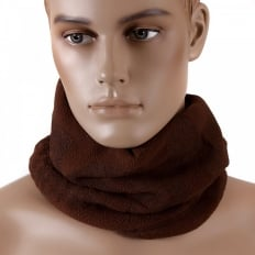 Brown Fleece Neck Warmer Snood