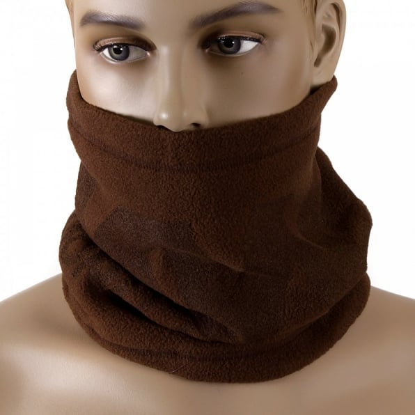 RMC MKWS Brown Fleece Neck Warmer Snood