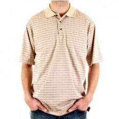 Pique Polo Shirt with Stone Applied Buttons