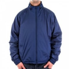 Regular Fit Two-Way Zipped Blue Jacket