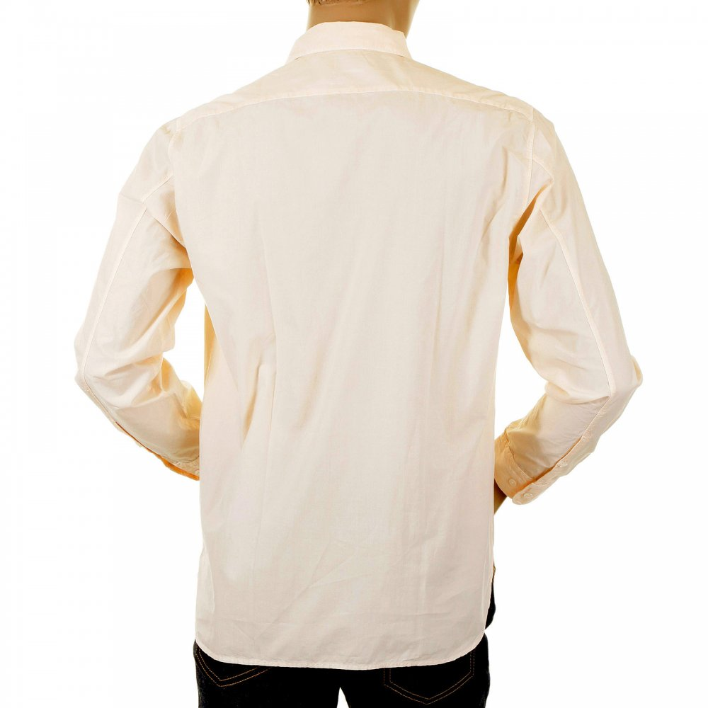 ... C.P. COMPANY Long Sleeve Washed Peach Coloured Shirt ...