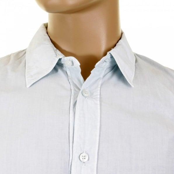 C.P. COMPANY Long Sleeve Washed Sky Blue Shirt