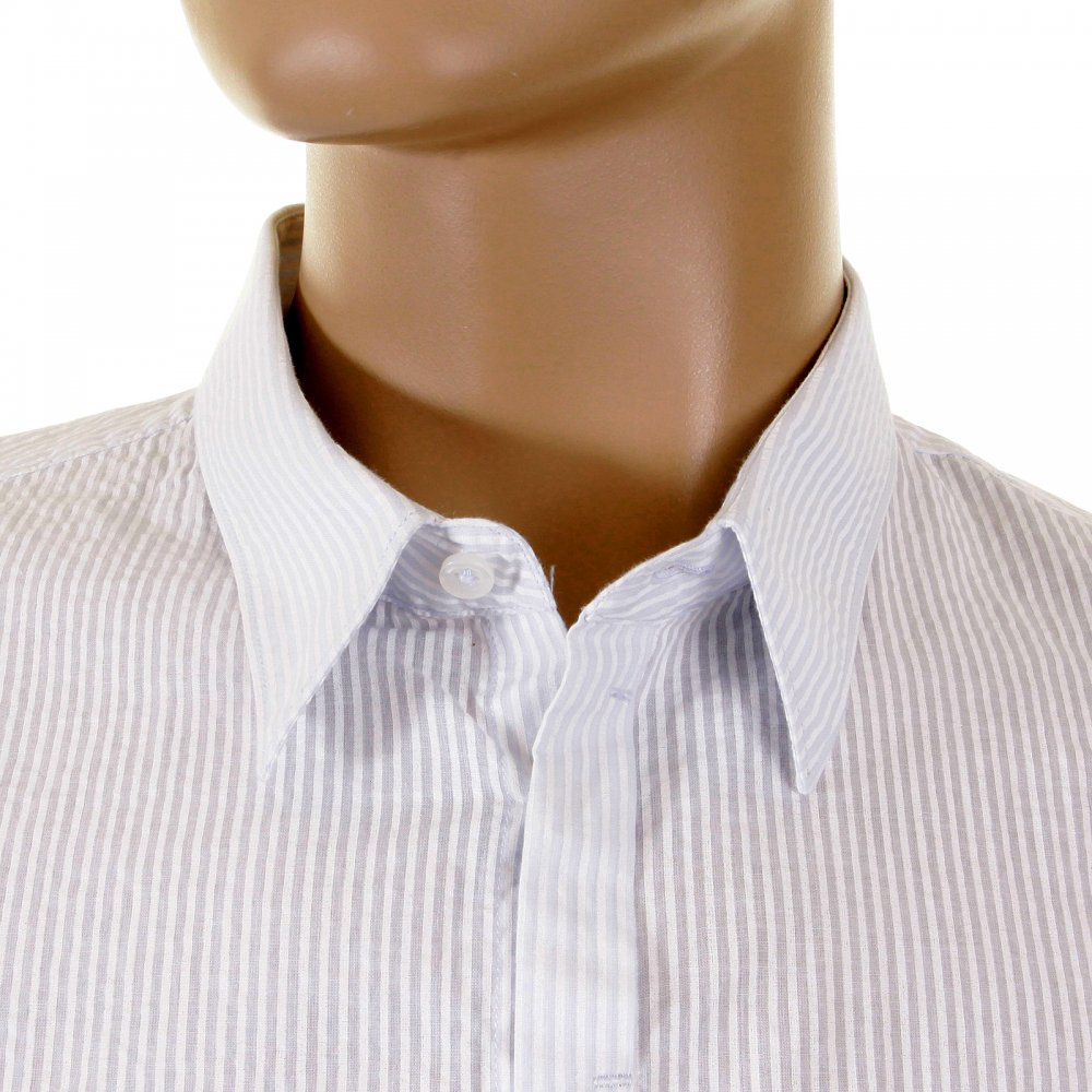 Shop now! Classy Striped White Short Sleeve Shirt by C.P. Company