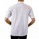 C.P. COMPANY Mens Short Sleeve White and Grey Stripe Shirt