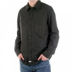 Washed Charcoal Long Sleeve Shirt