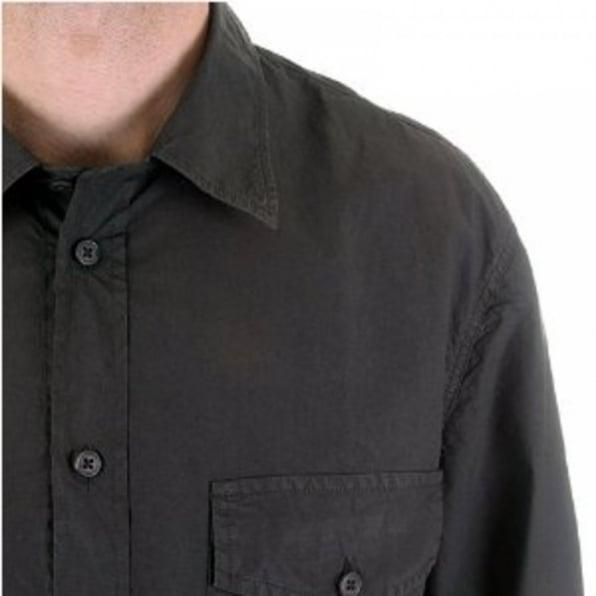 C.P. COMPANY Washed Charcoal Long Sleeve Shirt