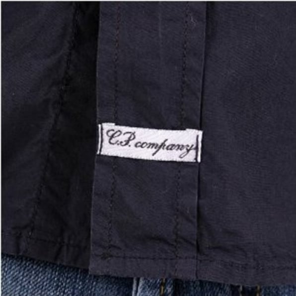 C.P. COMPANY Washed Navy Long Sleeve Shirt