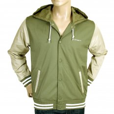 Bog Green and Stone Beige Hooded Regular Fit Robson Jacket