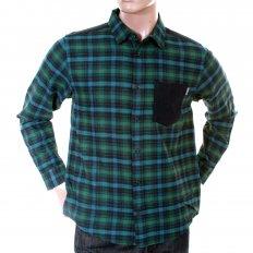 Caribbean Leek Checked Cotton Long Sleeve Regular Fit Shirt