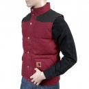CARHARTT Cranberry with Black Rigid Zip Front Regular Fit Padded Gilet