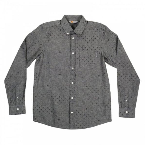 CARHARTT Mens 100% Cotton Slim Fit Long Sleeve Button Down Collar Dove Grey Chambray Shirt