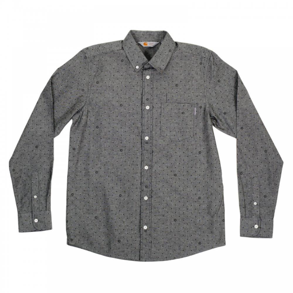 Dove Grey Mens Chambray Shirt By Carhartt Clothing Uk