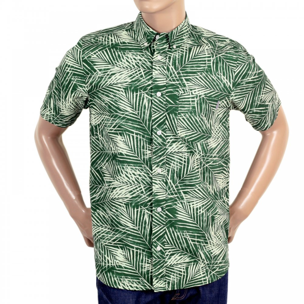 Green printed short sleeve shirts for men by carhartt for Short sleeved shirts for men