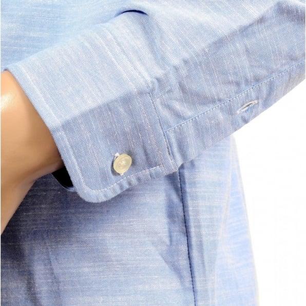 CARHARTT Mens Light Blue Cotton Oxford Slim Fit Shirt with Long Sleeve