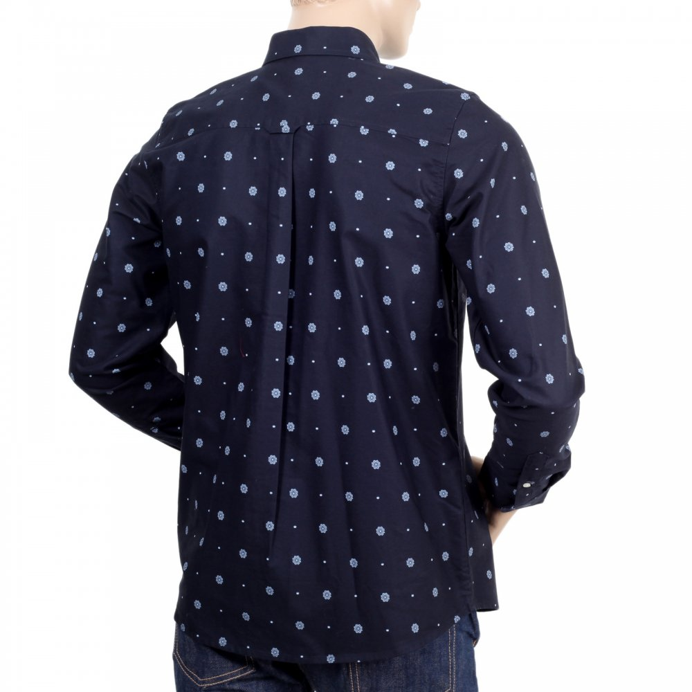 Printed Navy Blue Slim Fit Shirts For Men By Carhartt