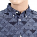 CARHARTT Mens Slim Fit Crandall Cotton Chambray Button Down Collar Shirt In Blue